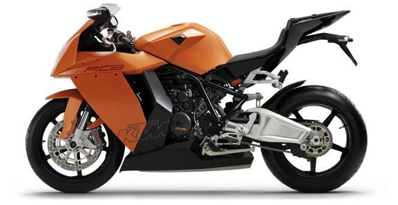 Новый спортивный мотоцикл KTM RC8 1190.